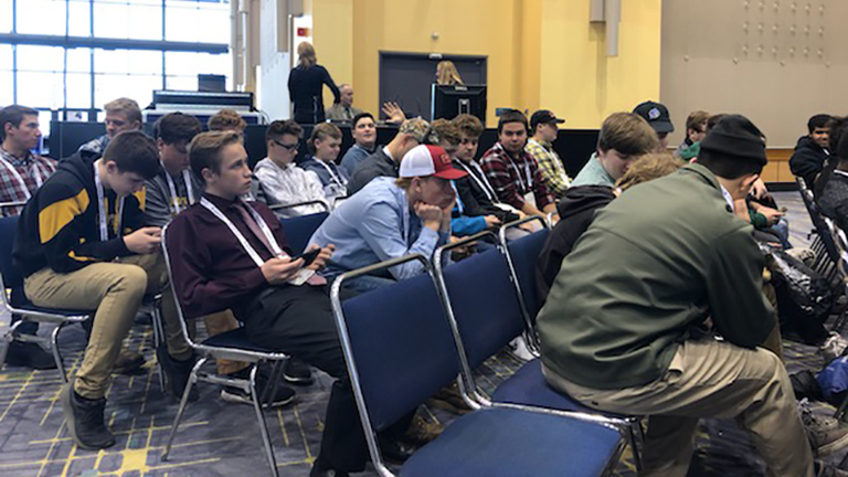 2019 FABTECH Student Summit - Kouts High School Students learning about career opportunities.jpg