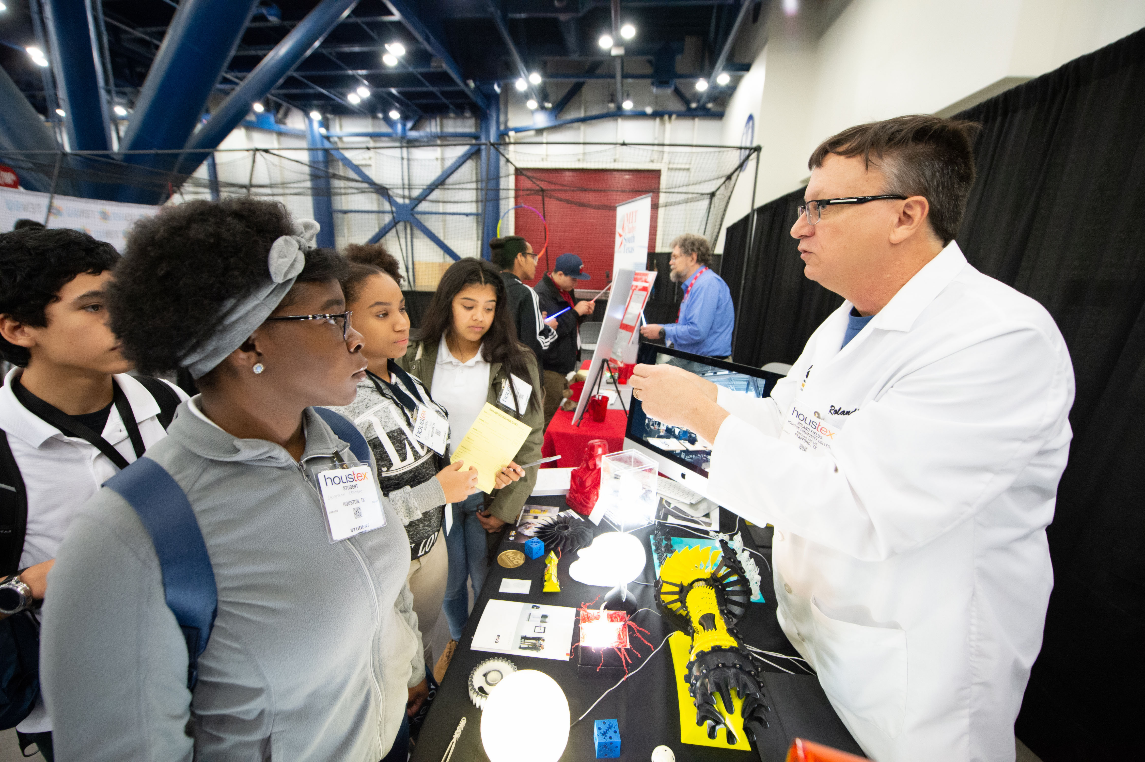 Content Card - Manufacturing Exploration - HOUSTEX - Houston Community College rep speaking with High School students about career pathways.jpg